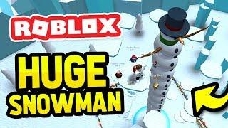 I BUILT THE BIGGEST SNOWMAN EVER in ROBLOX SNOWMAN SIMULATOR