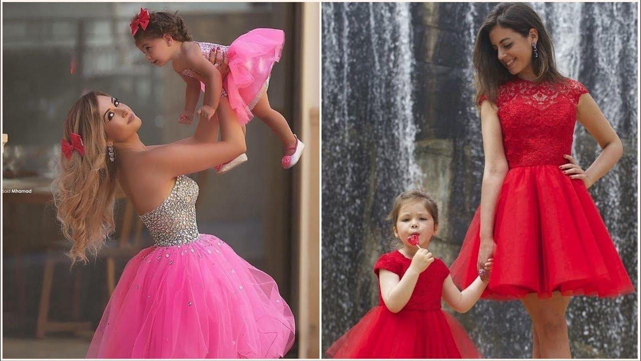 اشيك مجموعة فساتين مناسبات خطوبه او فرح لام وبنتها لابسين Dresses Formal Dresses Prom Dresses