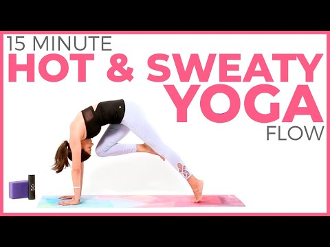 15 minute Hot & Sweaty Yoga Routine �� Power Yoga for Weight Loss & Strength | Sarah Beth Yoga