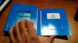 Распаковка Windows 10 Домашняя BOX