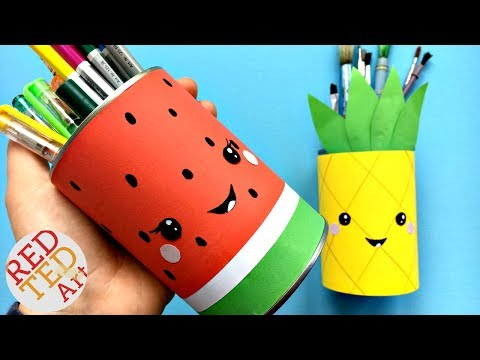 Easy Melon Pencil Holder DIY - School Supplies