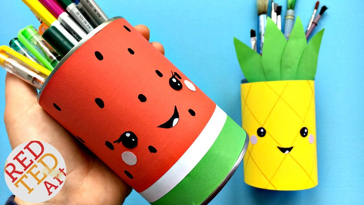 Easy Melon Pencil Holder Diy School Supplies Youtube