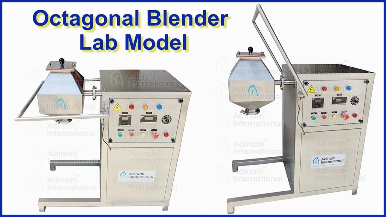 Octagonal Blender Lab Model,  Small Powder Mixer Machine