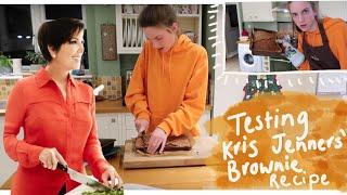 Testing Kris Jenners Brownie Recipe