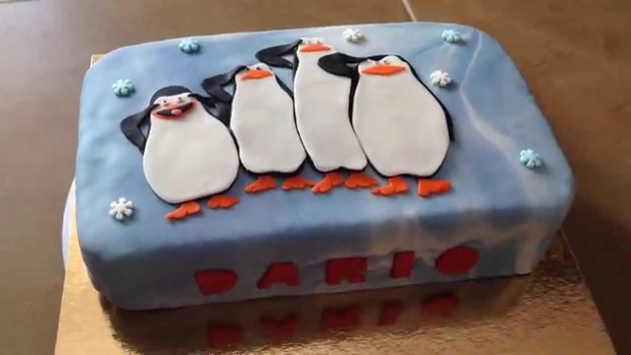 Penguins Of Madagascar Cake Decorating Kit 1 : Tarta Pinguinos Madagascar fondant 2D - Penguins of Madagascar Cake - YouTube