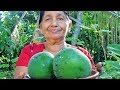 Village Foods ❤ Cooking Papaya Curry in my Village by my Mom