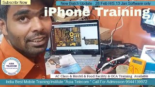 iPhone chip level repairing Training- iPhone Power key supply tracing by Asia Telecom Student's-😱👍