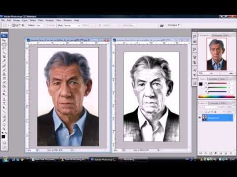 How to Transform PHOTOS into Pencil DRAWINGS - adobe photoshop cs3 cs4 cs5 cs6