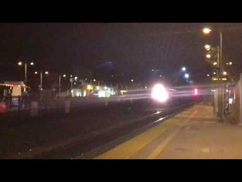 A few night trains in Palo Alto