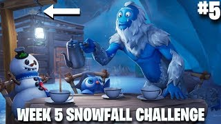 Fortnite Week 5 Secret Battle Star Location | #5 Loading Screen | Snowfall challenge