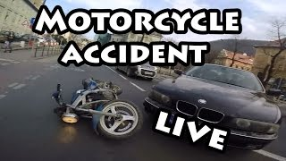 (Motor)Bike Am facut accident / Motorcycle accident live on camera