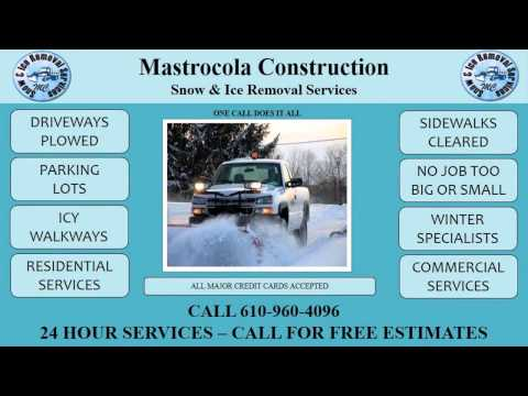 industrial snow removal king of prussia pa   Mastrocola Plowing 610-960-4096