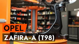 How to change Coil spring ZAFIRA A (F75_) - step-by-step video manual