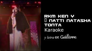 TONTA Karaoke y letra en guitarra