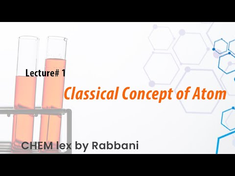 Class 11th. Chapter no.1 (Basic Concepts) Lecture no. 1: Classical Concept of Atom.