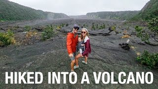 WE HIKED INTO A VOLCANO - Volcanoes National Park Hawaii