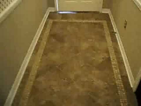 ceramic tile design in foyer - YouTube