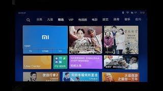 Огляд меню в телевізорі Xiaomi (англо-китайська)
