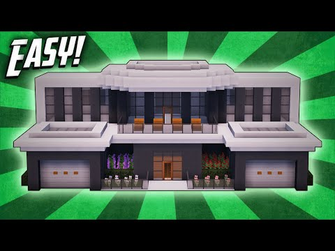 Minecraft: How To Build A Modern Mansion House Tutorial (#31)