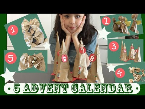DIY Christmas Advent Calendar idea with Paper Lunch Bags | Kids Eco Craft