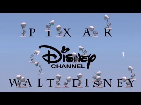 298-Twenty One Pixar Lamps Luxo Jr Logo Spoof Pixar-Walt Disney-Disney Channel With Time Reverse thumbnail