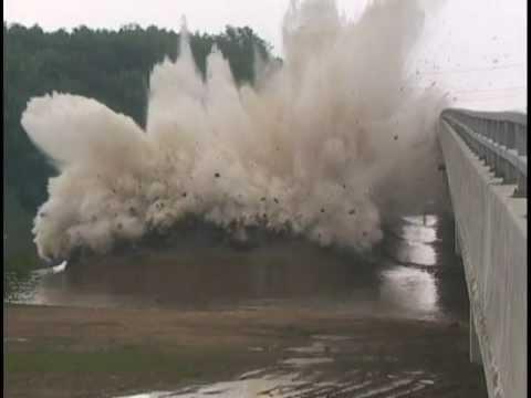 Wabash River Bridge Explosive Demolition