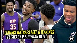 Greek Freak Watches Nick Young vs Brandon Jennings GO AT IT!! Shareef vs Jordan Bell at The Drew!
