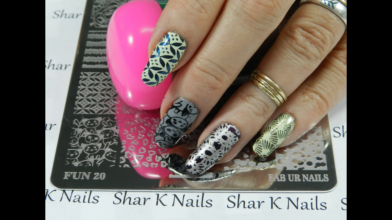 Stamping Plate Share My New Fab Ur Nails Plate 20 - YouTube
