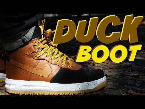 "Nike Lunar Force 1 DuckBoot ""Light British Tan"" w/ On Foot"