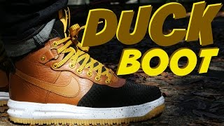 "Nike Lunar Force 1 DuckBoot ""Light British Tan"" w/ On Foot"