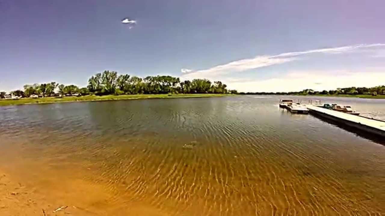 Large mouth bass fishing wacky rigged senko at lake for Fishing lakes in illinois