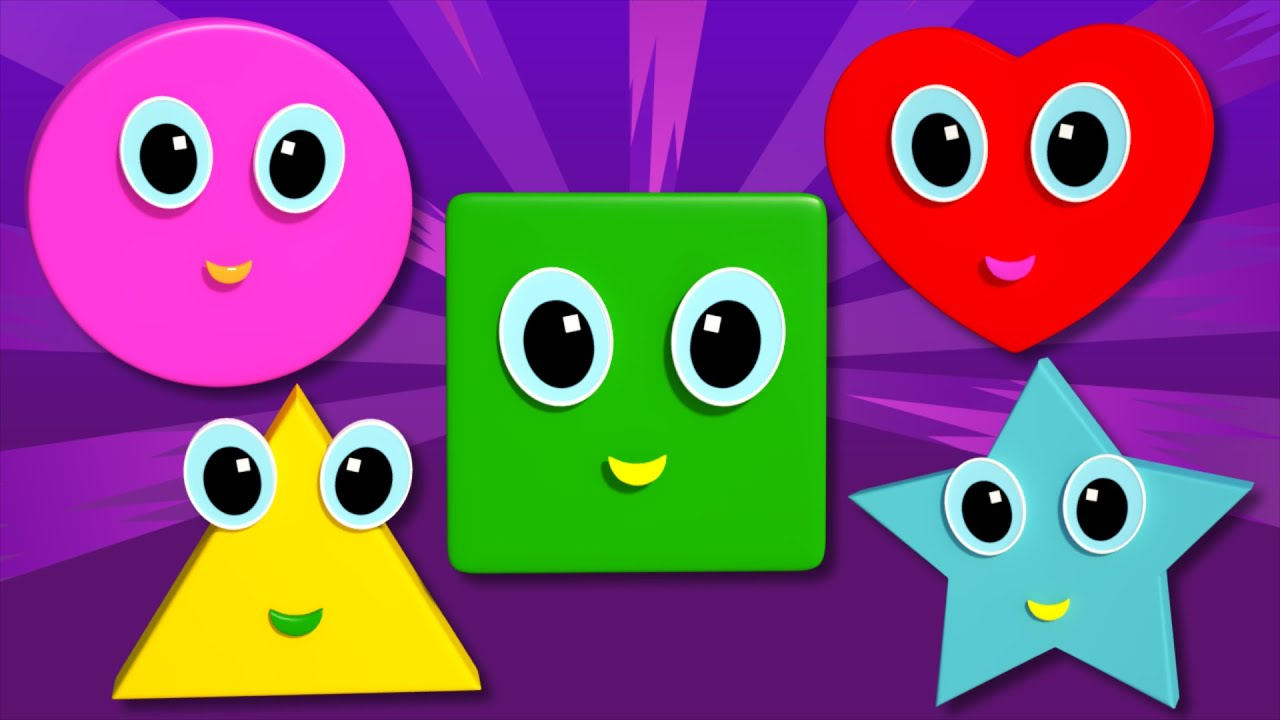 Shapes Song | Songs For Children And Kids | Learn Shapes With Colors ...