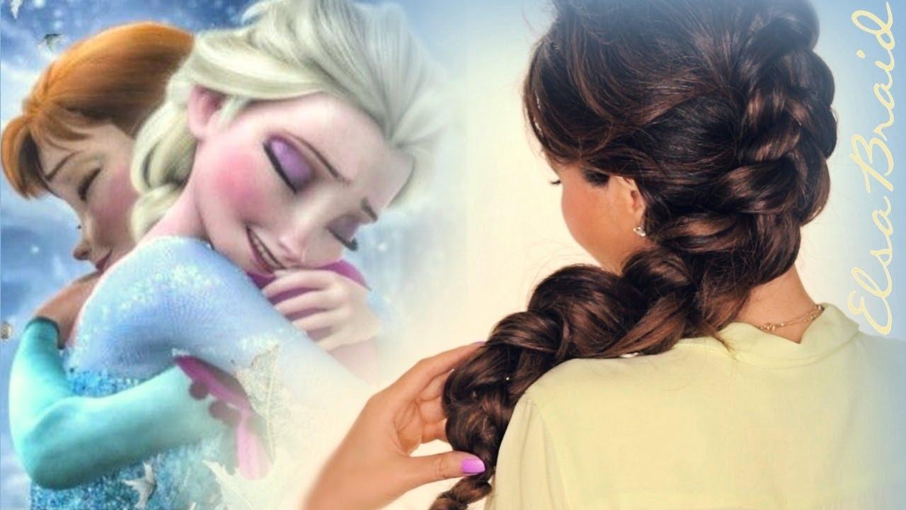 ★frozen elsa inside-out braid hair tutorial | cute hairstyles