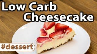 Low Carb Strawberry Cheesecake | Dessert  | Caveman Keto