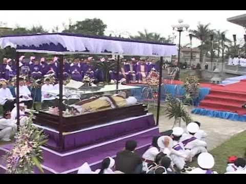 lễ an táng cha Giuse Vũ Văn Đại 12 đền thánh Sa Châu làng Gòi Giao Châu