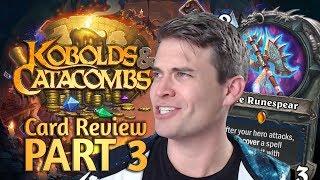 (Hearthstone) Kobolds & Catacombs Review: Part 3 (Shaman, Warlock, Warrior)