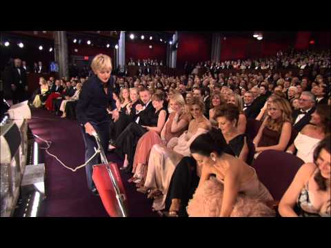 Ellen DeGeneres Vacuums at The Oscars