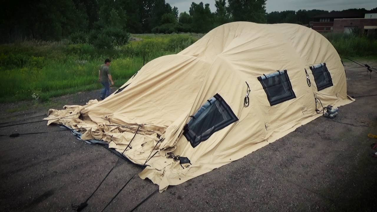 US Military Issue AirBeam Shelter 32 x 20 New & US Military Issue AirBeam Shelter 32 x 20 New - YouTube