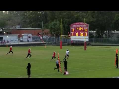 Jaylen Smith #10 pass to Ernest #2 Lakeshore vs Baldwin