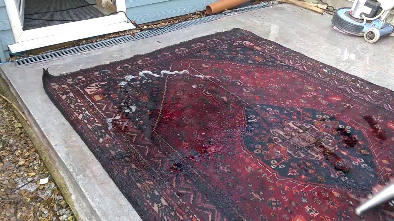 Cleaning A Flood Damaged Persian Rug By Captain Wash From Plymouth