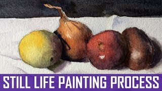 Still-Life In Watercolor | Full Painting Process