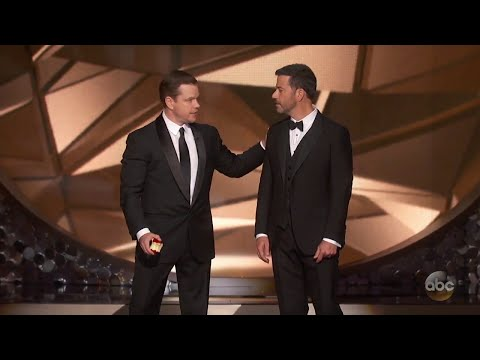 Matt Damon Confronts Jimmy Kimmel After Emmys Loss