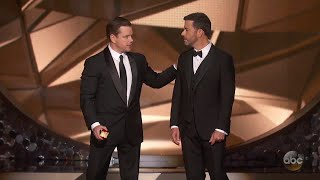 Matt Damon Confronts Jimmy Kimmel After Emmys Loss thumbnail