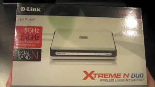 d link dap 1522 wireless n bridge unboxing set up