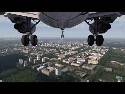Landing in Amsterdam A320 [Gear CAM] ++ Aerofly FS 2