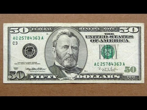 50 US Dollars Banknote (Fifty Dollars USA: 1996) Obverse & Reverse
