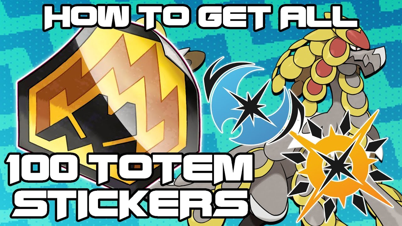 Guide to all 100 totem sticker locations how to get totem pokemon in ultra sun and ultra moon