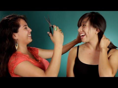 Women BFFs Cut Each Other's Hair: Part 2