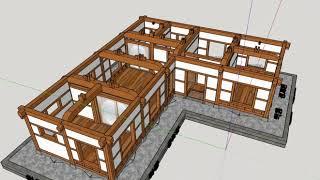 ㄱ자 25평 한옥 스케치업(sketchup) 3D 한옥…