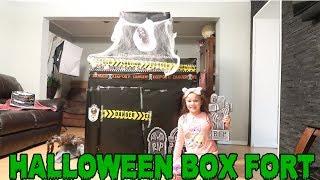 Huge Halloween Box Fort Tour! Halloween Shopkins Box Fort Scavenger Hunt